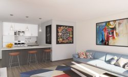 Interior Living Room - Kitchen